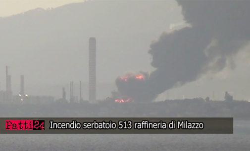 PATTI24 TV ON DEMAND – Riprese incendio raffineria Mediterranea di Milazzo alle ore 08.00 del 27 settembre 2014