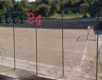 PATTI – Manutenzione ed erba sintetica al campo di calcetto di San Giovanni