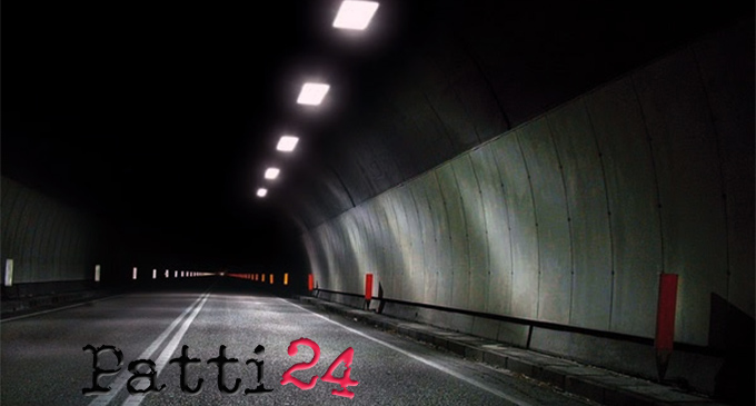 A20 – In corso verifiche per assicurare l'efficienza degli impianti di illuminazione. Sulla Messina Palermo programmati interventi su 14 gallerie
