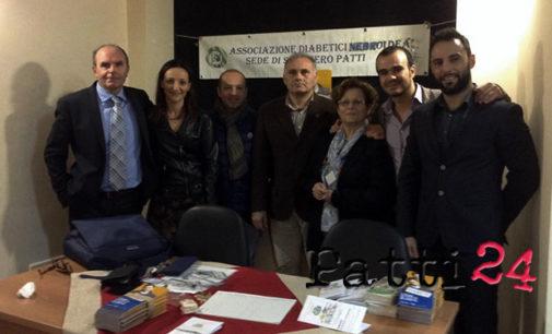 SAN PIERO PATTI – L'Associazione Diabetici Nebroidea FAND ancora una volta vicina ai diabetici: Screening di prevenzione e convegno sul tema