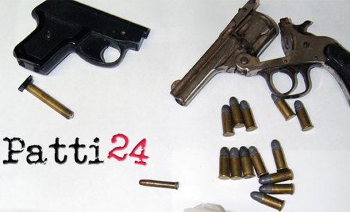 PATTI – Ritrovate pistole e cartucce in una busta di plastica fra i massi di Valle Tindari