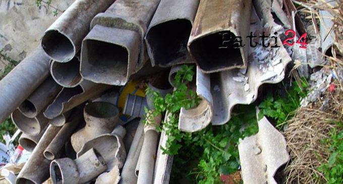 PATTI – Eternit in via Fiume, i residenti chiedono la bonifica dell'area (di Giuseppe Giarrizzo)