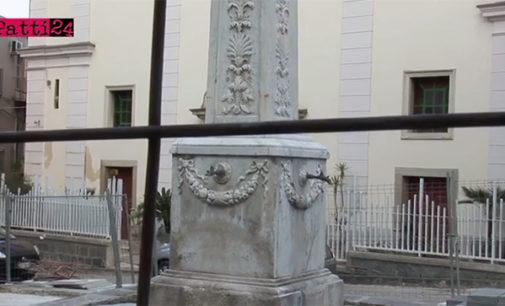"""PATTI – Completati i lavori in piazza Niosi e vie adiacenti. Rimane il restauro della storica """"Fontana del Calice"""""""
