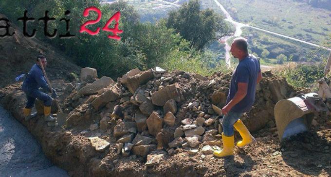 PATTI – Lavori sulla 120 Scarpiglia dopo la frana del mese scorso