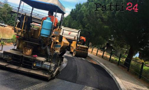 PATTI – Completati i lavori di bitumazione all'ingresso della frazione Marina