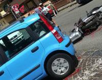 PATTI – Incidente stradale auto-scooter tra Piazza Mario Sciacca e Via Trieste