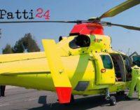 LIPARI – Maltempo, elicottero del 118 a Lipari per trasportare d'urgenza a Milazzo una gestante di 35 anni