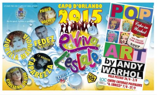 CAPO D'ORLANDO – Presentati gli eventi estivi, a sorpresa una mostra di Andy Wharol