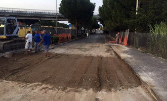 PATTI – Completati i lavori di ripristino della condotta fognaria in Via Di Vittorio
