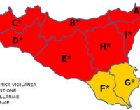 """MESSINA – Meteo, oggi livello di allerta""""Rosso"""" per tutta la provincia, molte le scuole chiuse"""