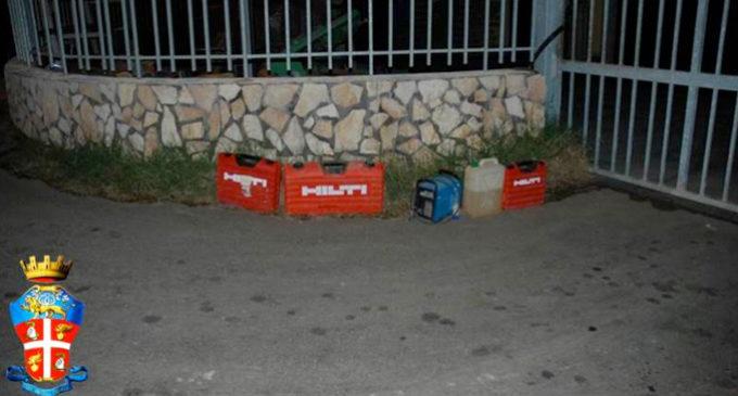 ALI' TERME – Sorpresi in flagranza di furto di utensili da lavoro professionali, arrestati