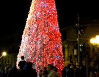 MESSINA – All'accensione dell'albero di Natale della Confcommercio in Piazza Cairoli, presenti l'Acr e Greta Cacciolo