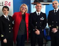"""PATTI – La Capitaneria di Porto in visita all'Istituto """"Borghese Faranda"""