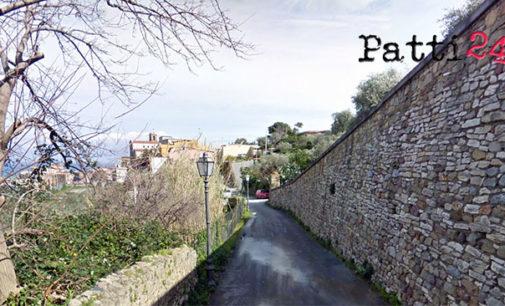 PATTI – Lavori di rifacimento di una tratto della via Sant'Antonio Abate