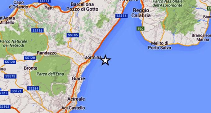 GIARDINI NAXOS – Lieve scossa di terremoto di magnitudo ML 3.3 con epicentro in mare a 10 km da Giardini Naxos
