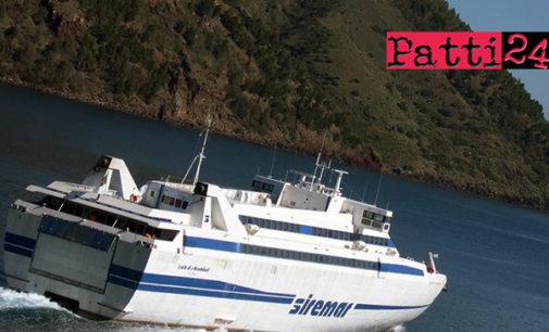 """MILAZZO – Maltempo. La nave veloce """"Isola di Stromboli"""" salta lo scalo di Salina"""