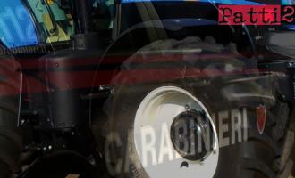 PATTI – Ritrovato nella notte il trattore gommato rubato in c.da S. Cosimo lo scorso 19 maggio