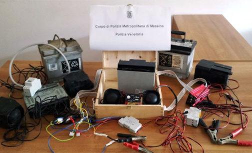 MESSINA – Sequestrata in provincia attrezzatura utilizzata per la caccia di frodo.