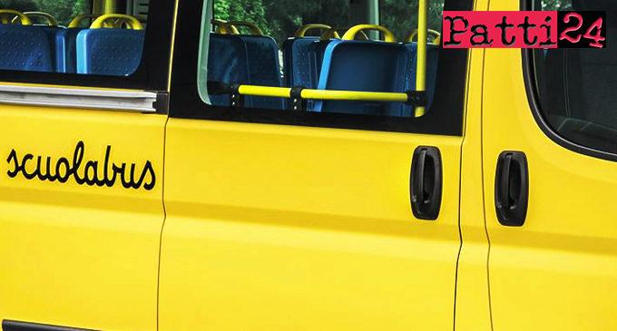 PATTI – 25.500 euro per il servizio di trasporto degli alunni che provengono dalle frazioni Scarpiglia, Iuculano, Masseria, Malafarina, Moreri, Scala, Locanda, Tindari e Sorrentini
