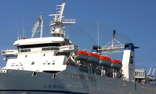 """EOLIE – Annullata corsa delle ore 20 della nave traghetto """"Laurana"""" in servizio sulla tratta Napoli- Eolie – Milazzo"""