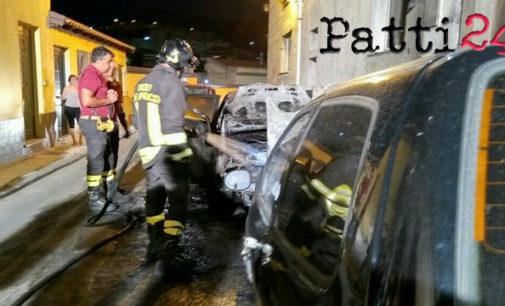 PATTI – Ancora autoveicoli in fiamme nel quartiere San Michele.