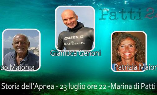 """PATTI – La """"Storia dell'apnea"""" il prossimo 23 luglio a Patti Marina"""