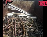 MESSINA – 530 Kg. di matasse di rame nel proprio cortile. 37enne non giustifica provenienza,  denunciato per ricettazione