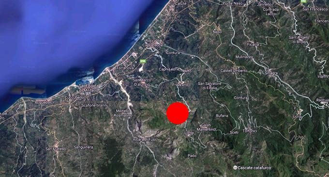 NEBRODI – Lieve sisma di magnitudo ML 2.5, ad una profondità di appena 6 km con epicentro a 2 Km da Longi