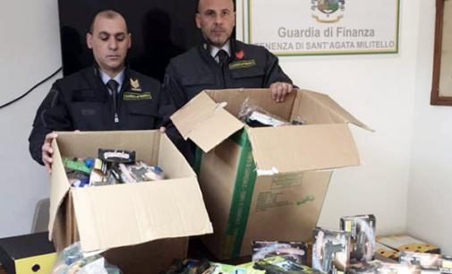 """SANT'AGATA MILITELLO – Sequestro di 10.000 articoli con il contrassegno """"CE"""" falso. Denunciato titolare di attività commerciale"""