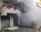 CASTROREALE – Incendio divampato da un deposito di abbigliamento coinvolge i quattro appartamenti sovrastanti