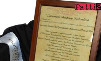 """BROLO – Il poeta e scrittore Rosario La Greca nominato """"Ambasciatore di Pace nel Mondo"""""""