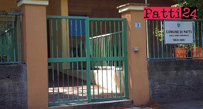 """PATTI – Asilo nido comunale """"Marilena Faranda"""". Aggiudicati lavori di sistemazione dell'area esterna"""