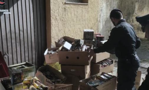 TAORMINA – Sequestrati numerosi artifizi pirotecnici e bombe artigianali formate con polvere nera e fogli di giornale. Deferito 60enne