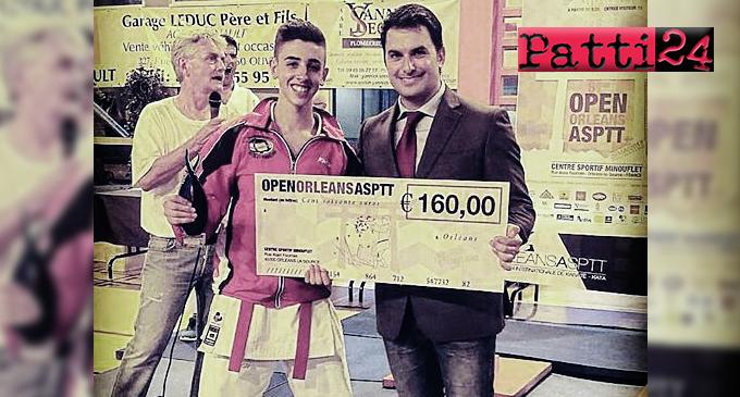 """PATTI – """"Chapeau"""" al giovane Pietro Lisi primo agli Open d'Orleans nel Kata"""