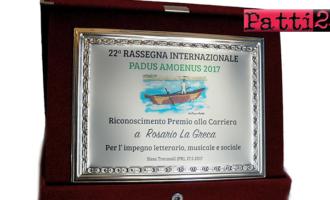 BROLO – Ancora  un prestigioso  Riconoscimento Internazionale per il  poeta  Rosario La Greca di Brolo
