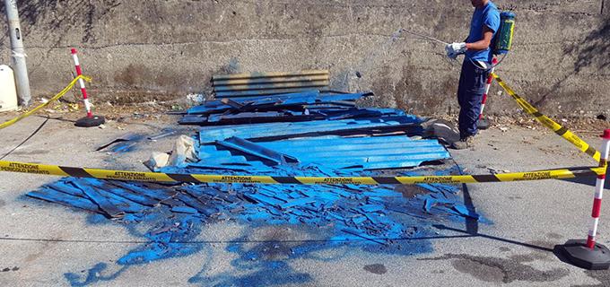 MILAZZO – Intervento del Comune per rimuovere amianto abbandonato