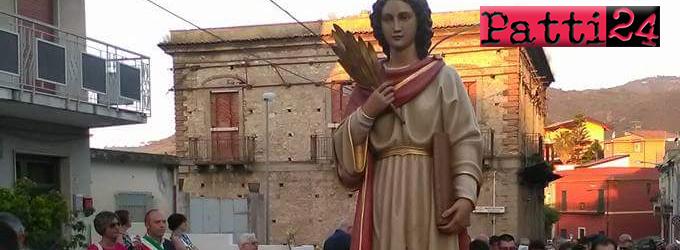 PATTI – La festa in onore di Santa Febronia a Case Nuove Russo e Malluzzo