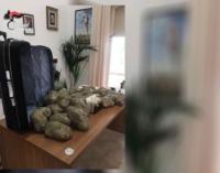 "LIPARI – In possesso di 12 kg. circa di ""marijuana"". Arrestati un 33enne ed un 24enne, entrambi originari di Locri"