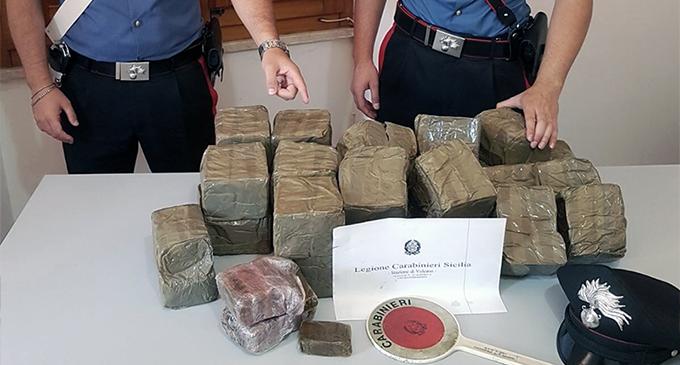 ISOLE EOLIE – Rinvenuti 30 kg di hashish in un pacco galleggiante a Vulcano.