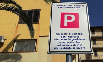 """CAPO D'ORLANDO – Nascono i """"parcheggi rosa"""" per le donne in gravidanza e le neomamme"""