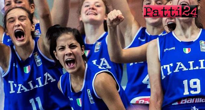 PATTI – Campionato Europeo di basket under 16. Beatrice Stroscio e la Nazionale Italiana in semifinale