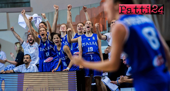 PATTI – Europeo under 16 basket femminile. Con il contributo della pattese Beatrice Stroscio l'Italia ha battuto la Lettonia 48-42, conquistando il terzo posto