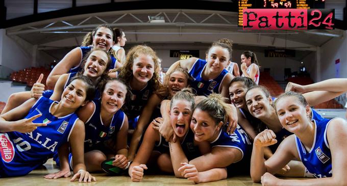 PATTI – Europeo under 16 basket femminile. Per la pattese Beatrice Stroscio e la Nazionale il sogno si infrange dopo una sfida durissima che non ha scalfito l'orgoglio