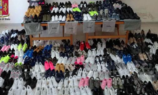 MILAZZO – Sequestrate 500 paia di scarpe riportanti noti marchi contraffatti. Denunciate tre persone, sanzioni amministrative per oltre 5.000,00 €