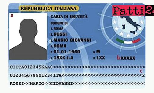 MILAZZO – Dal 2 ottobre il rilascio della Carta identità elettronica ai cittadini