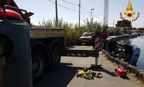 MESSINA – Auto cade nel lago di Torre Faro. L'automobilista è riuscito ad uscire da solo dall'abitacolo