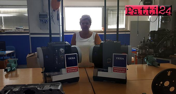 """PATTI – L'IIS """"Borghese Faranda"""" amplia la dotazione di apparecchiature del laboratorio officina con gli analizzatori gas di scarico della Texa, di ultimissima generazione"""