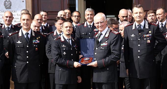 MESSINA – Il Comandante Generale dei Carabinieri, Gen. C.A. Tullio DEL SETTE al Nucleo Carabinieri Subacquei di Messina