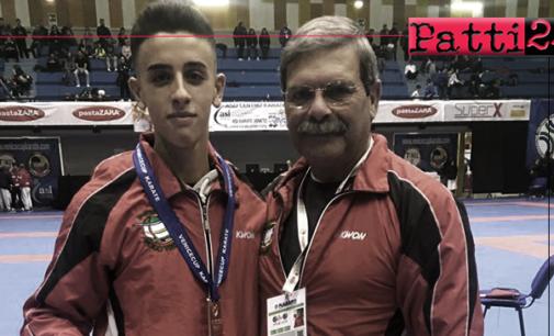 PATTI – Il giovane Pietro Lisi unico siciliano ad aver vinto la medaglia di bronzo nel Kata alla Venice Cup 2017