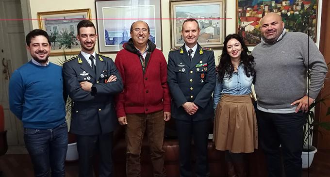 CAPO D'ORLANDO – Il Comandante Provinciale della Guardia di Finanza incontra il Sindaco Franco Ingrillì